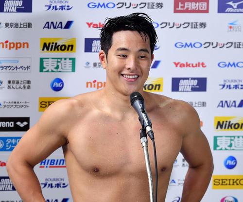 瀬戸大也が肖像権を自身で管理するプロスイマーに 競泳では4人目