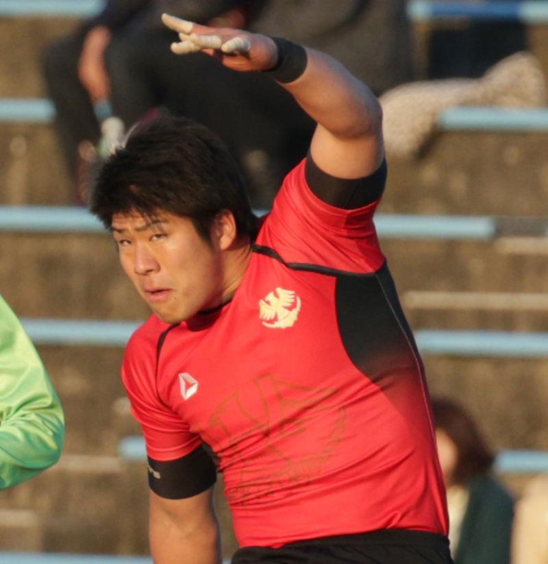 ラグビーの日本代表、松田力也