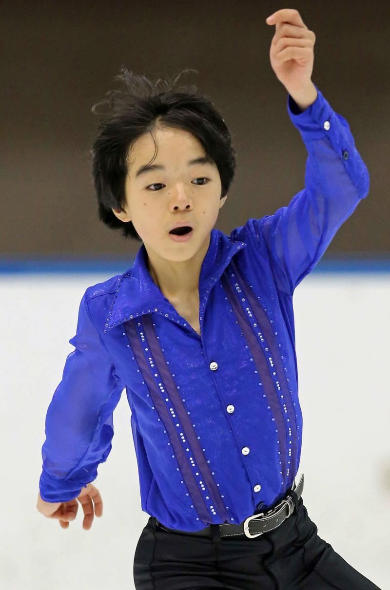 13歳鍵山「羽生くんを超える選手に」初出場で健闘