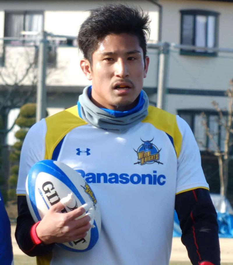 ラグビーの日本代表、内田啓介
