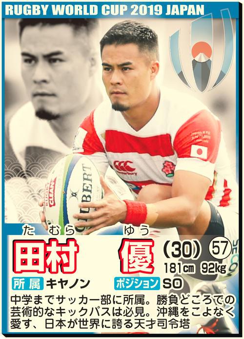 田中、福岡、松島ら/W杯代表BK陣カード名鑑 , ラグビー